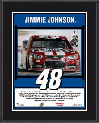 "Jimmie Johnson 2014 AAA Texas 500 at Texas Motor Speedway Race Winner Framed 15""x17"" Collage With Tire - Limited Edition of 500"