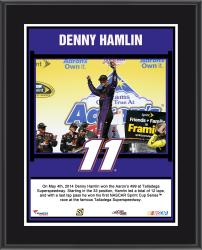 Denny Hamlin 2014 Aaron's 499 at Talladega Superspeedway Race Winner Sublimated 10.5'' x 13'' Plaque - Mounted Memories