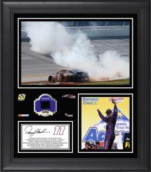 Denny Hamlin 2014 Aaron's 499 at Talladega Superspeedway Race Winner Framed 15'' x 17'' Collage With Race-Used Tire-Limited Edition of 250 - Mounted Memories