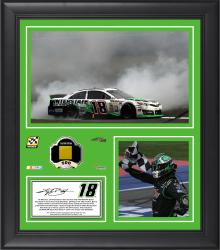 Kyle Busch 2014 Auto Club 400 at Auto Club Speedway Framed 15'' x 17'' Collage With Race-Used Metal-Limited Edition of 500 - Mounted Memories