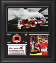 Kevin Harvick 2014 Bank of America 500 Charlotte Motor Speedway Race Winner Framed 15'' x 17'' Collage With Race-Used Tire-Limited Edition of 500