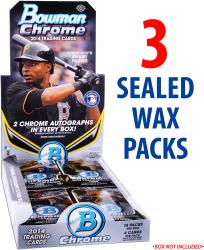 2014 Bowman Chrome Baseball 3 Factory Sealed Packs