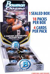 2014 Bowman Chrome Baseball Factory Sealed 18 Pack Box