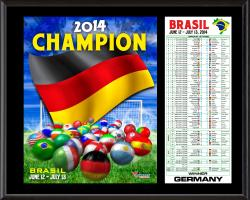 2014 Brazil World Soccer Champion Germany Sublimated 12'' x 15'' Plaque