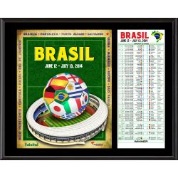 2014 Brazil World Cup Sublimated 12'' x 15'' Plaque