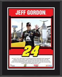 2014 Brickyard 400 at Indianapolis Motor Speedway Race Winner Sublimated 10.5x13 Plaque