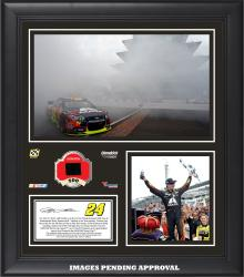 2014 Brickyard 400 at Indianapolis Motor Speedway Race Winner Framed 15x17 Collage With Race-Used Tire