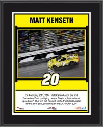 Matt Kenseth 2014 Budweiser Duel 1 at Daytona International Speedway Race Winner Sublimated 10.5'' x 13'' Plaque - Mounted Memories