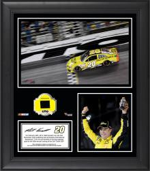 Matt Kenseth 2014 Budweiser Duel 1 at Daytona International Speedway Race Winner Framed 15'' x 17'' Collage With Race-Used Tire - Mounted Memories