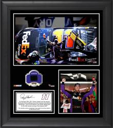 Denny Hamlin 2014 Budweiser Duel 2 at Daytona International Speedway Race Winner Framed 15'' x 17'' Collage With Race-Used Tire - Mounted Memories