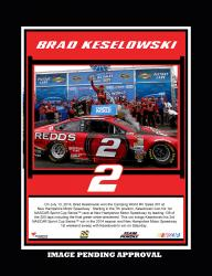 "2014 Camping World RV Sales 301 at New Hampshire Motor Speedway Race Winner Sublimated 10.5"" x 13"" Plaque"