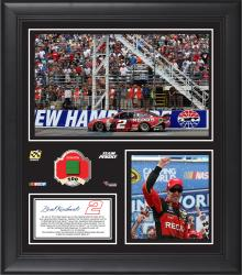 2014 Camping World RV Sales 301 at New Hampshire Motor Speedway Race Winner Framed 15x17 Collage With Race-Used Green Flag