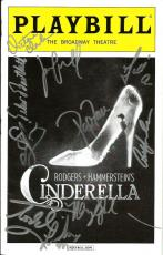 2014 Cinderella Cast Signed Playbill The Broadway Theatre (10) Autographs