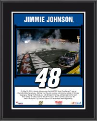 Jimmie Johnson 2014 Coca-Cola 600 at Charlotte Motor Speedway Race Winner Sublimated 10.5'' x 13'' Plaque - Mounted Memories