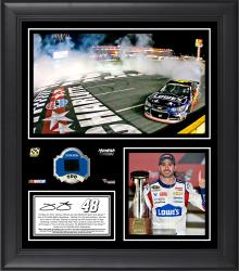 "Jimmie Johnson 2014 Coca-Cola 600 at Charlotte Motor Speedway Race Winner Framed 15"" x 17"" Collage With Race-Used Tire-Limited Edition of 500"