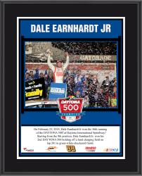 Dale Earnhardt Jr. 2014 Daytona 500 at Daytona International Speedway Race Winner Sublimated 10.5'' x 13'' Plaque - Mounted Memories