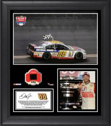 Dale Earnhardt Jr. 2014 Daytona 500 at Daytona International Speedway Race Winner Framed 15'' x 17'' Collage with Race-Used Tire - Mounted Memories
