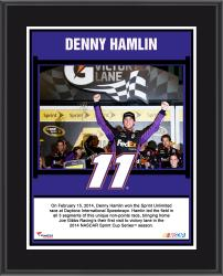 Denny Hamlin 2014 Sprint Unlimited Race Winner at Daytona International Speedway Sublimated 10.5'' x 13'' Plaque - Mounted Memories