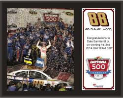 Dale Earnhardt Jr. 2014 Daytona 500 Champion Sublimated 12'' x 15'' Plaque - Mounted Memories