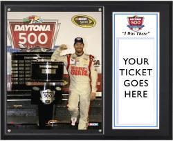 Dale Earnhardt Jr. 2014 Daytona 500 Champion Sublimated 12'' x 15'' I Was There Plaque - Mounted Memories