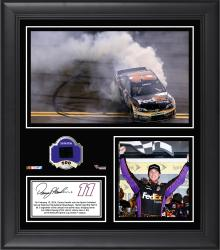 Denny Hamlin 2014 Sprint Unlimited Race Winner at Daytona International Speedway Framed 15'' x 17'' Collage With Race-Used Tire - Mounted Memories