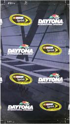 2014 Daytona 500 Driver's Meeting 106'' x 60'' Safer Barrier Banner - Mounted Memories