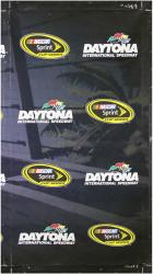 2014 Daytona 500 Driver's Meeting 106'' x 60'' Palm Tree Banner - Mounted Memories