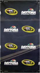2014 Daytona 500 Driver's Meeting 106'' x 60'' Yellow Line Banner - Mounted Memories