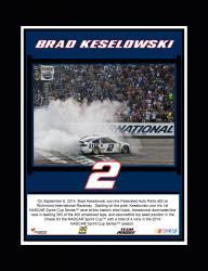 "Brad Keselowski 2014 Federated Auto Parts 400 at Richmond International Raceway Race Winner Sublimated 10.5"" x 13"" Plaque"