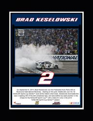 "Brad Keselowski 2014 Federated Auto Parts 400 at Richmond International Raceway Race Winner Sublimated 10.5"" x 13"" Plaque"
