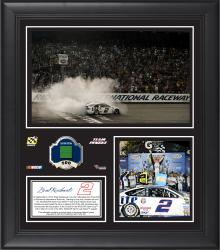 """Brad Keselowski 2014 Federated Auto Parts 400 at Richmond International Raceway Race Winner Framed 15""""x17"""" Collage With Green Flag - Limited Edition of 500"""