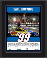 """Carl Edwards 2014 Food City 500 at Bristol Motor Speedway Sublimated 10.5"""" x 13"""" Plaque"""
