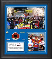 Carl Edwards 2014 Food City 500 at Bristol Motor Speedway Framed 15'' x 17'' Collage With Race-Used Tire-Limited Edition of 500 - Mounted Memories