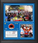 "Carl Edwards 2014 Food City 500 at Bristol Motor Speedway Framed 15"" x 17"" Collage With Race-Used Tire-Limited Edition of 500"