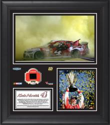 "Kevin Harvick 2014 Ford 400 at Homestead- Miami Speedway Race Winner Framed 15""x17"" Collage With Tire - Limited Edition of 400"