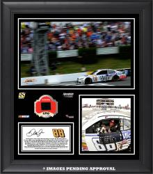 2014 Gobowling.com 400 at Pocono Raceway Race Winner Framed 15x17 Collage With Race-Used Tire