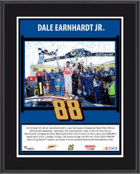 "Dale Earnhardt Jr 2014 Goody's500 at Martinsville Speedway Race Winner Sublimated 10.5"" x 13"" Plaque"
