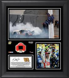 "Dale Earnhardt Jr 2014 Goody's 500 at Martinsville Speedway Race Winner Framed 15""x17"" Collage With Green Tire - Limited Edition of 500"