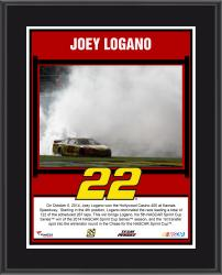 Joey Logano 2014 Hollywood Casino 400 Kansas Speedway Race Winner Sublimated 10.5'' x 13'' Plaque