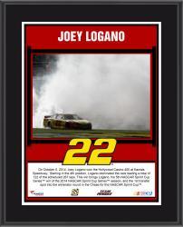 Joey Logano 2014 Hollywood Casino 400 Kansas Speedway Race Winner Sublimated 10.5'' x 13'' Plaque