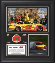 Joey Logano 2014 Hollywood Casino 400 Kansas Speedway Race Winner Framed 15'' x 17'' Collage With Race-Used Flag-Limited Edition of 500