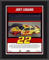 Joey Logano 2014 Irwin Tools Night Race at Bristol Motor Speedway Race Winner Sublimated 10.5'' x 13'' Plaque