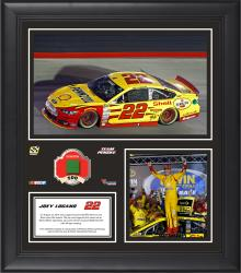Joey Logano 2014 Irwin Tools Night Race at Bristol Motor Speedway Race Winner Framed 15'' x 17'' Collage With Race-Used Flag-Limited Edition of 500