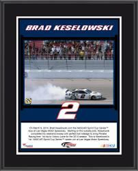 Brad Keselowski 2014 Kobalt Tools 400 at Las Vegas Motor Speedway Race Winner Sublimated 10.5'' x 13'' Plaque - Mounted Memories
