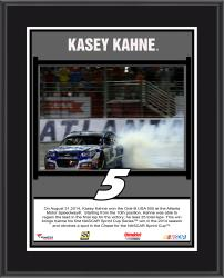 Kasey Kahne 2014 Oral-B USA 500 Night Race at Atlanta Motor Speedway Race Winner Sublimated 10.5'' x 13'' Plaque