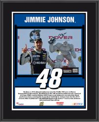 Jimmie Johnson 2014 NASCAR Sprint Cup Series Race at Dover International Speedway Race Winner Sublimated 10.5'' x 13'' Plaque - Mounted Memories