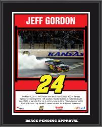 "Jeff Gordon 2014 NASCAR Sprint Cup Series Under the Lights at Kansas Speedway Race Sublimated 10.5"" x 13"" Plaque"