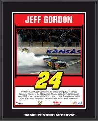 "Jeff Gordon 2014 NASCAR Sprint Cup Series Under the Lights at Kansas Speedway Race Sublimated 10.5"" x 13"" Plaque"