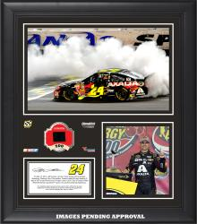 "Jeff Gordon 2014 NASCAR Sprint Cup Series Under the Lights at Kansas Speedway Race Framed 15"" x 17"" Collage With Race-Used Tire"