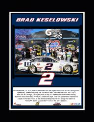 Brad Keselowski 2014 NSCS Race at Chicagoland Speedway Race Winner Sublimated 10.5'' x 13'' Plaque